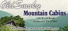 Old Smoky Mountain Cabin Rentals in Townsend, Tennessee.