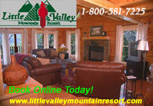 Little Valley Mountain Resort  - Log cabins and chalets in Pigeon Forge and Sevierville, Tennessee